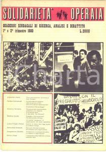 1980 SOLIDARIETA' OPERAIA Il caso della