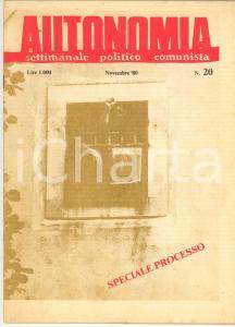 1980 PADOVA - AUTONOMIA Speciale processo - Rivista comunista n° 20