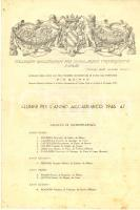 1947 PAVIA Collegio GHISLERI - Alunni per l'anno accademico 1946-47