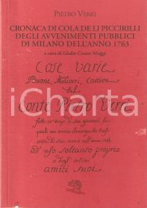 2008 Pietro VERRI Cronaca di Cola de li Piccirilli A cura di Giulio Cesare MAGGI