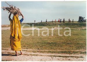 2000 UTTARA Donna con fascio di sterpi - Film di Buddhadev DASGUPTA *Foto 17x12