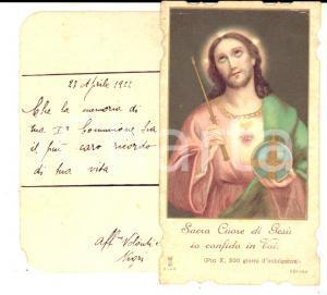 1922 MILANO Sacro Cuore di Gesù - Santino Prima Comunione - VINTAGE