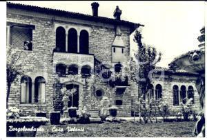 1960 ca BORGOLOMBARDO Cortile di VILLA VOLONTE' - Cartolina postale FG NV