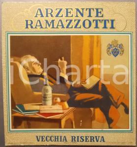 1950 ca Amaro ARZENTE RAMAZZOTTI Vecchia riserva - Pannello pubblicitario 21x24