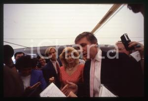 35mm vintage slide* 1988 NEW YORK Ivana and Donald TRUMP aboard TRUMP PRINCESS 8