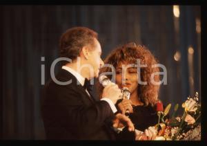 35mm vintage slide* 1990 FESTIVAL SANREMO - Tina TURNER e Johnny DORELLI