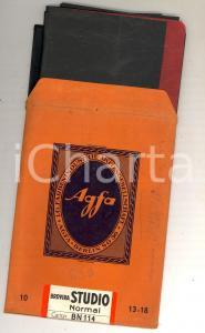 1910 ca BERLIN AGFA Campione carta BROVIRA STUDIO con busta PUBBLICITARIA