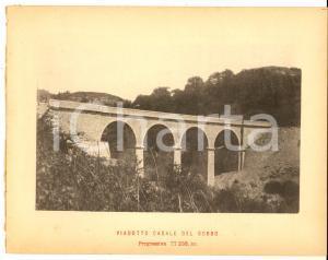 1888 Ferrovia ROMA-SULMONA - Viadotto CASALE DEL GOBBO - Veduta 20x16 cm