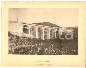 1888 Ferrovia ROMA-SULMONA - Veduta del viadotto VINCENZO - Stampa 20x16 cm