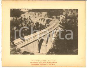 1888 Ferrovia ROMA-SULMONA - Viadotti CORVI e VALERIO - Veduta 20x16 cm