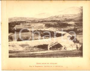 1888 Ferrovia ROMA-SULMONA - Grande argine del COTIGLIANO - Veduta 20x16 cm