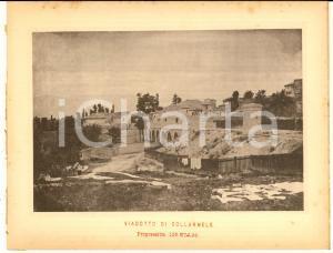 1888 Ferrovia ROMA-SULMONA - Viadotto di COLLARMELE - Stampa 20x16 cm