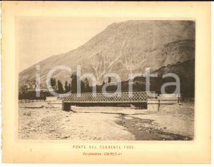1888 Ferrovia ROMA-SULMONA - Ponte sul TORRENTE FOCE - Stampa 20x16 cm