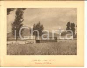1888 Ferrovia ROMA-SULMONA - Ponte sul fiume IMELE - Stampa 20x16 cm