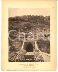 1888 Ferrovia ROMA-SULMONA - Galleria MONTE BOVE Imbocco SULMONA in costruzione