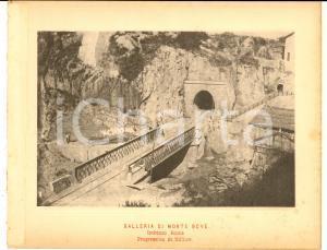 1888 Ferrovia ROMA-SULMONA Galleria MONTE BOVE in costruzione - Imbocco ROMA