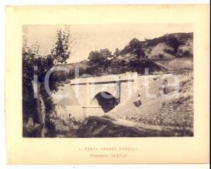 1888 Ferrovia ROMA-SULMONA -  Ponte presso CARSOLI in costruzione - Stampa 20x16