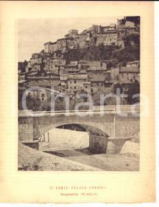 1888 Ferrovia ROMA-SULMONA - Ponte presso CARSOLI in costruzione *Stampa 16x20