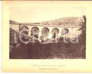 1888 Ferrovia ROMA-SULMONA - Viadotto MANDRA DELLE VACCHE - Stampa 20x16 cm