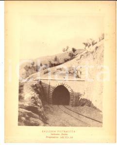 1888 Ferrovia ROMA-SULMONA - Galleria PIETRAFITTA - Imbocco ROMA *Stampa 16x20
