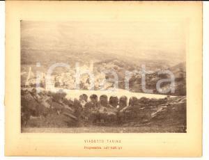 1888 Ferrovia ROMA-SULMONA - Viadotto TARINO - Stampa 20x16 cm
