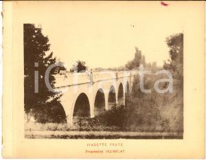 1888 Ferrovia ROMA-SULMONA - Veduta del viadotto PRATO - Stampa 20x16 cm