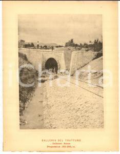1888 Ferrovia ROMA-SULMONA - Galleria del TRATTURO in costruzione *Stampa 16x20