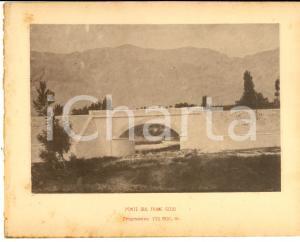 1888 Ferrovia ROMA-SULMONA - Ponte sul fiume GIZIO - Stampa 20x16 cm