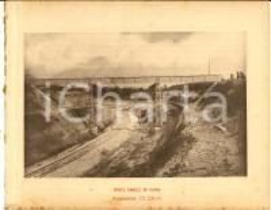 1888 Ferrovia ROMA-SULMONA - Ponte canale in ferro - Stampa 20x16 cm