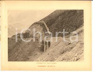 1888 Ferrovia ROMA-SULMONA - Viadotto CASTAGNA in costruzione *Stampa 20x16