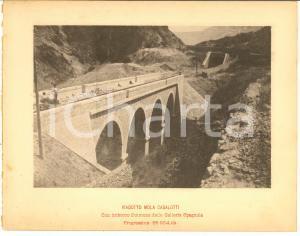 1888 Ferrovia ROMA-SULMONA Viadotto MOLA CASALOTTI in costruzione *Stampa 20x16