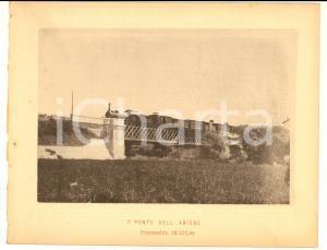1888 Ferrovia ROMA-SULMONA - Ponte sull' ANIENE con treno - Stampa 20x16 cm