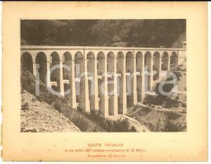 1888 Ferrovia ROMA-SULMONA - Veduta del viadotto PONTENUOVO - Stampa 20x16 cm