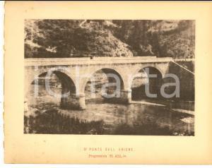 1888 Ferrovia ROMA-SULMONA - Terzo ponte sull' ANIENE  - Stampa 20x16 cm
