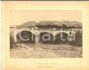 1888 Ferrovia ROMA-SULMONA - Secondo ponte sull' ANIENE  - Stampa 20x16 cm