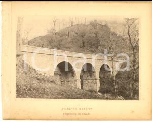 1888 Ferrovia ROMA-SULMONA - Veduta del viadotto MARTINO - Stampa 20x16 cm