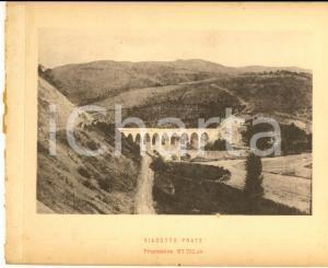 1888 Ferrovia ROMA-SULMONA - Veduta del viadotto PRATE - Stampa