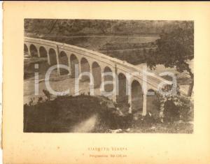 1888 Ferrovia ROMA-SULMONA - Veduta del viadotto SCARPA - Stampa 20x16 cm