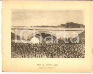 1888 Ferrovia ROMA-SULMONA - Ponte sul torrente LICENZA - Stampa 20x16 cm
