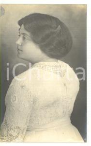1912 ORTONA Ritratto di Maria SANVITALE in abito bianco *Fotocartolina