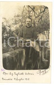 1915 BRINDISI Ritratto di Antonio PUGLIELLI Genio Milizia Territoriale
