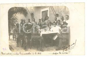 1915 BRINDISI Villa Pignicedda - Pranzo Compagnia GENIO MILIZIA TERRITORIALE