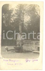 1910 ROMA Villa Borghese - Scorcio della Fontana dei Mascheroni *Fotocartolina