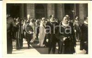 1929 ROMA Piazza San Pietro - Visita dei Reali d'Italia al Pontefice - Foto