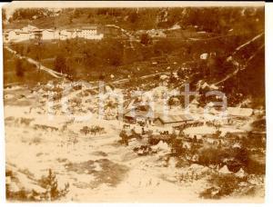 1916 WW1 ZONA DI GUERRA Veduta aerea accampamento italiano *Foto 11x8 cm