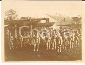 1916 WW1 ZONA DI GUERRA Battaglione presso una cascina - Foto 12x9