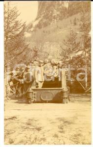 1916 WW1 ZONA DI GUERRA Ufficiali presso postazione di tiro *Foto 7x12 cm