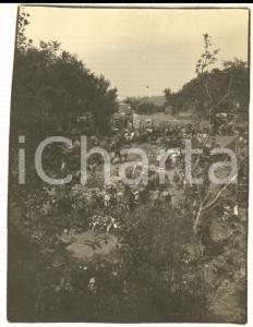 1917 WW1 ZONA DI GUERRA Accampamento italiano con cavalli *Foto 8x10 cm