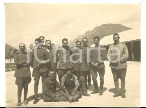 Luglio 1917 WW1 ZONA DI GUERRA Soldati italiani al campo *Foto 10x8 cm