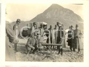 1917 WW1 ZONA DI GUERRA Ufficiali italiani in osservazione *Foto 12x9 cm